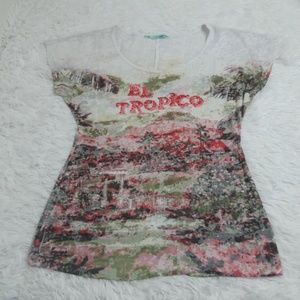 Womens S Small MAURICES Burnout tee Shirt Top